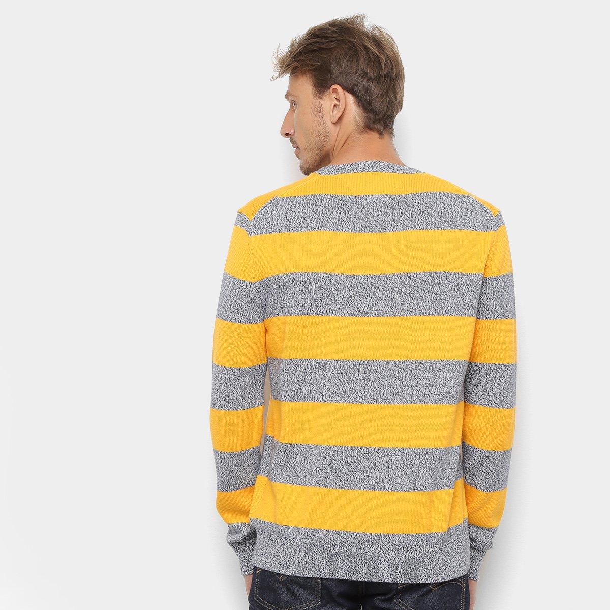Foto 2 - Malha Tommy Jeans Rugby Stripe Sweater Masculina