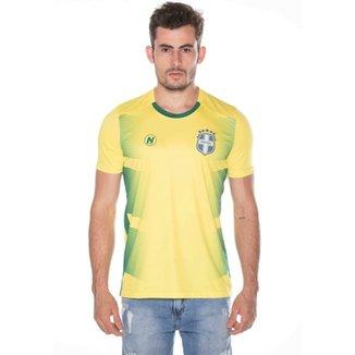 4d7e8deea Camisa Numer Brasil Pro Nº10 Masculina