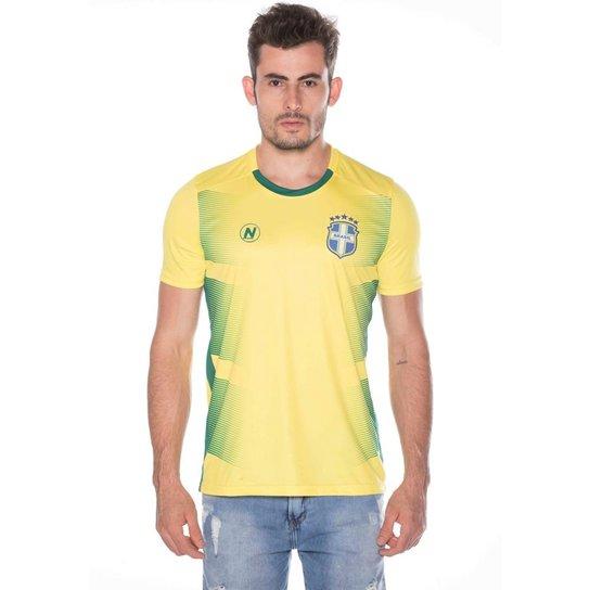 Camisa Numer Brasil Pro Nº10 Masculina - Amarelo - Compre Agora ... 321a2e9d19