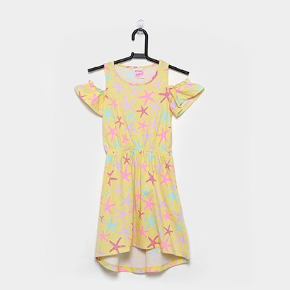 Vestido Infantil For Girl Estrela do Mar Mullet