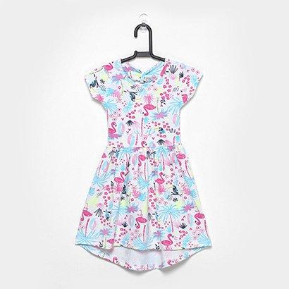 Vestido Infantil For Girl Coqueiros Evasê Mullet