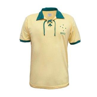 Camisa Retrô Mania Brasil Cordinha Masculina 1e1775c573322