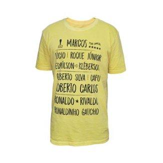 9a3d6cd4e6282 Camisa Brasil 2002 Retrô Mania Masculina