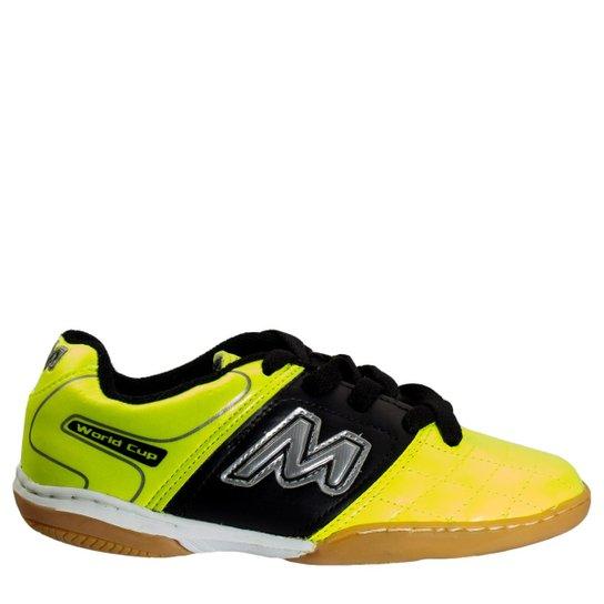 e255659781 Chuteira Infantil Futsal Mathaus Itália 1007713875135 - Amarelo ...
