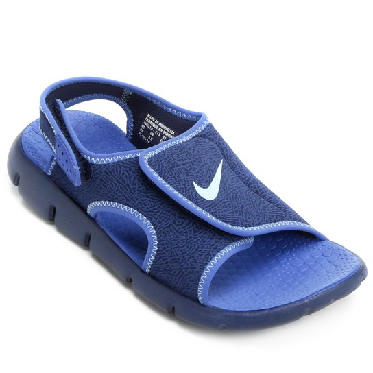f905d68f6a6 Sandália Nike Sunray Adjust 4 Juvenil - Azul Claro e Branco - Compre ...