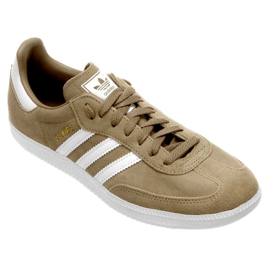34a05dd2b6 Tênis Adidas Samba - Bege+Branco