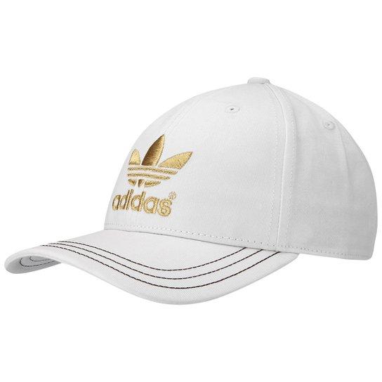 Boné Adidas Classic - Branco+dourado e341ae88266