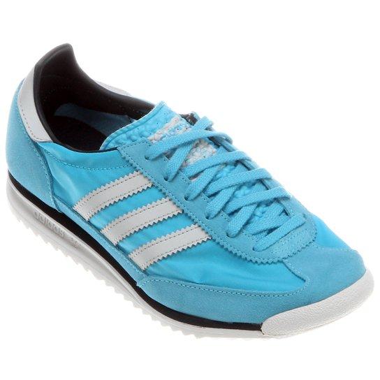 9ec6ebb81dc Tênis Adidas SL 72 - Azul Claro+Branco