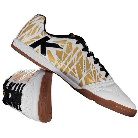 Chuteira Futsal Kelme Subito Masculina - Branco+dourado 1d2f0f3717e25