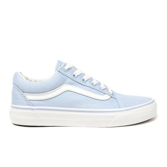 ae4e205b082 Tênis Vans Old Skool - Azul Claro+Branco