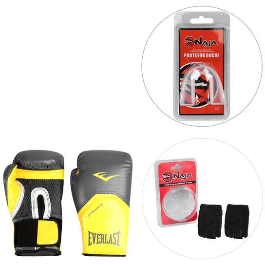 b92464ed4 Kit Luva de Boxe Everlast Pro Style Elite 14oz + Bandagem Elástica Naja 2