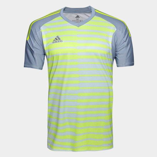 Camisa Adidas Goleiro Adipro 18 Masculina - Cinza e Amarelo - Compre ... 2b783261673
