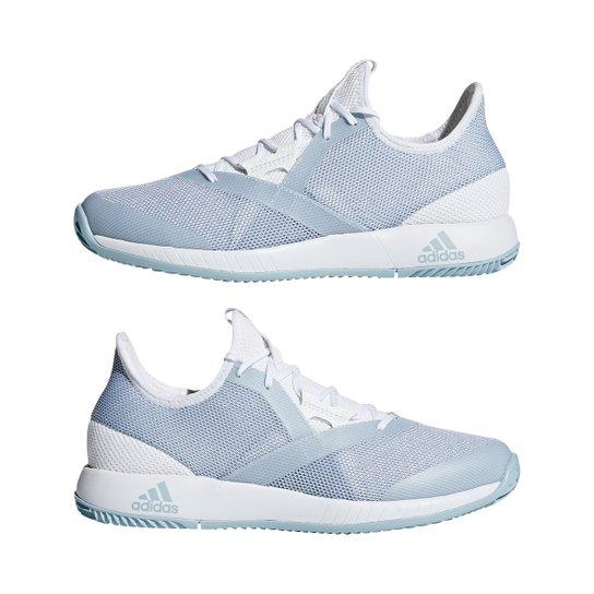3fcb5f09bf0 Tênis Adidas Adizero Defiant Bounce Feminino - Azul Claro e Branco ...