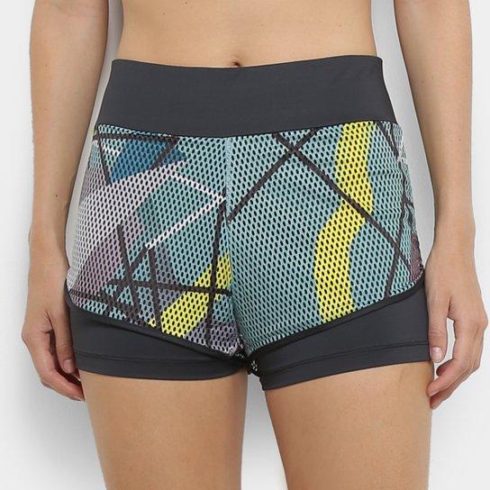 c6a0d88c6a12b Short Adidas Collab Board Sh Feminino - Cinza e Amarelo | Netshoes