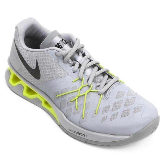 74ad6040a87 Tênis Nike Reax Lightspeed 2 Masculino - Cinza e Amarelo - Compre ...