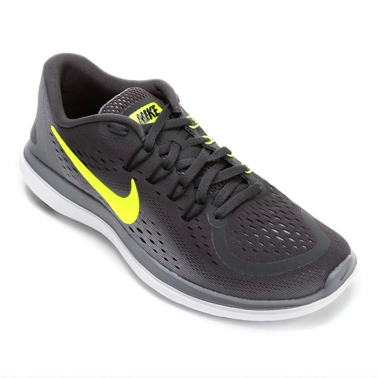 852e609e2c9 Tênis Nike Flex Run Masculino - Cinza e Amarelo - Compre Agora ...