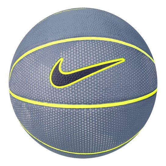 Bola Basquete Nike Swoosh Mini Tamanho 3 Mini - Cinza e Amarelo ... efab6c89ad3cb