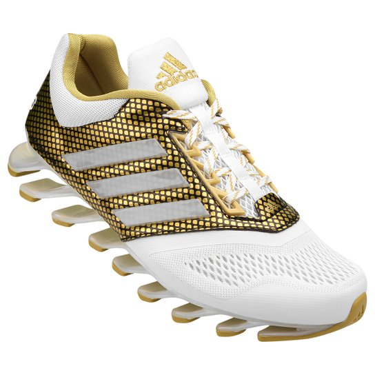 sports shoes 56759 52078 Tênis Adidas Springblade Drive Gold Pack Masculino - Branco+dourado