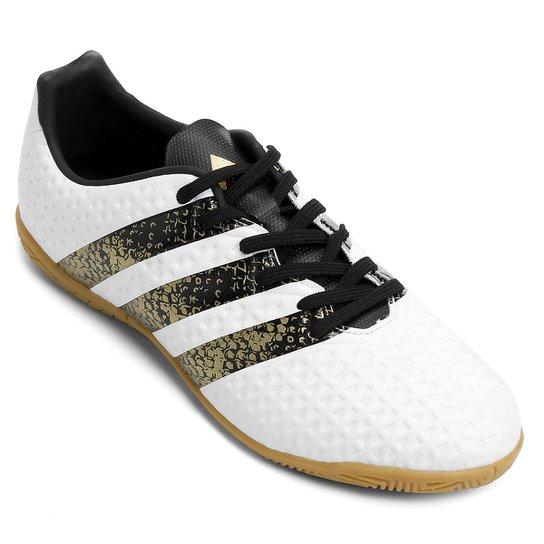 25b25e6401ee0 Chuteira Futsal Juvenil Adidas Ace 16.4 IN - Branco e Preto | Netshoes