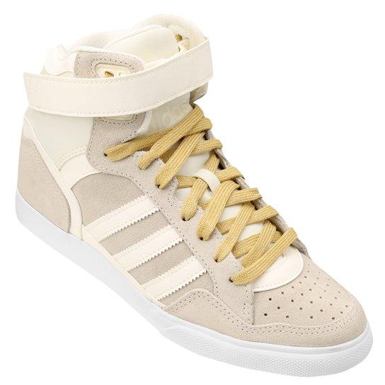 3e05952db9885 Tênis Adidas Extaball Up W - Branco+dourado