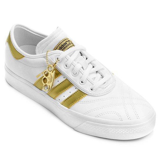 00b60856747 Tênis Adidas Adiease Away Days Masculino - Branco+dourado