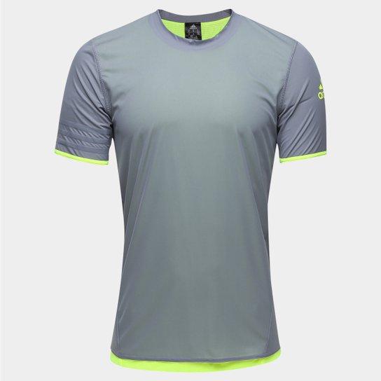 Camisa Adidas UFB Reversível Masculina - Cinza+Verde Limão 48451df8d6562