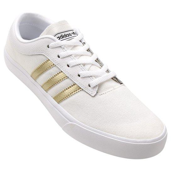 815eab58d9b Tênis Adidas Sellwood Feminino - Branco+dourado