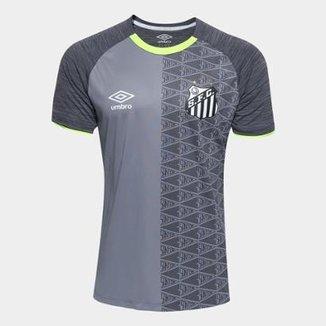 Camisa Santos Aquecimento 2018 Umbro Masculina 4568ac825d71b