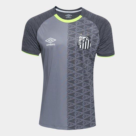 d928d34847 Camisa Santos Aquecimento 2018 Umbro Masculina - Cinza e Amarelo ...
