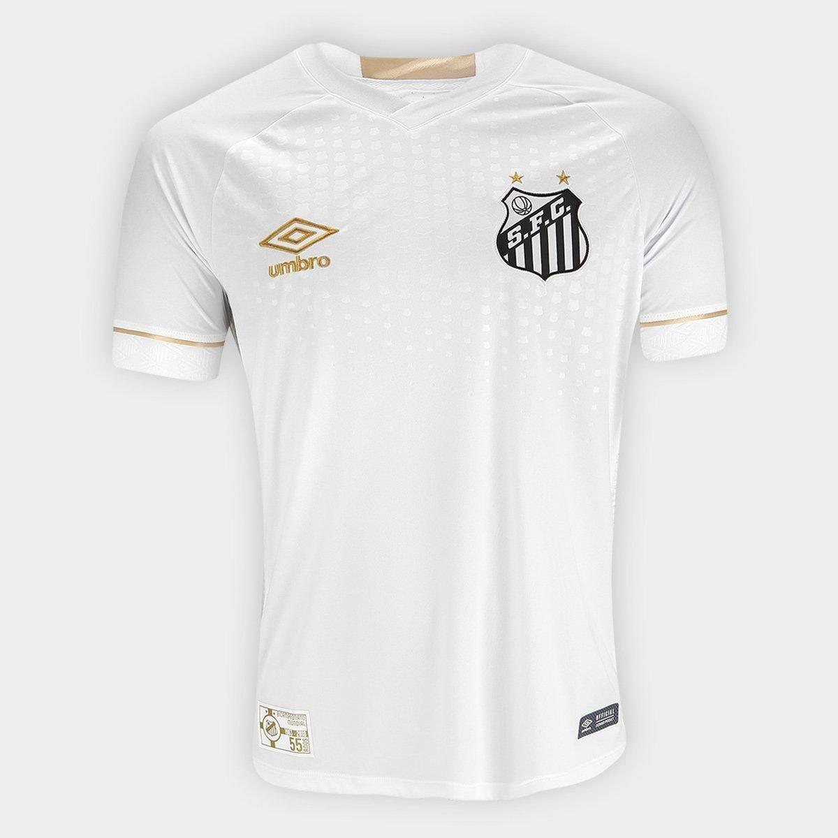 Camisa Santos I 2018 s n° Torcedor Umbro Masculina 8899f9c0d5349