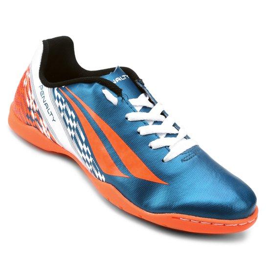 Chuteira Futsal Infantil Penalty Storm K Soccer 7 - Azul Turquesa+Laranja 622fbd0f248fe