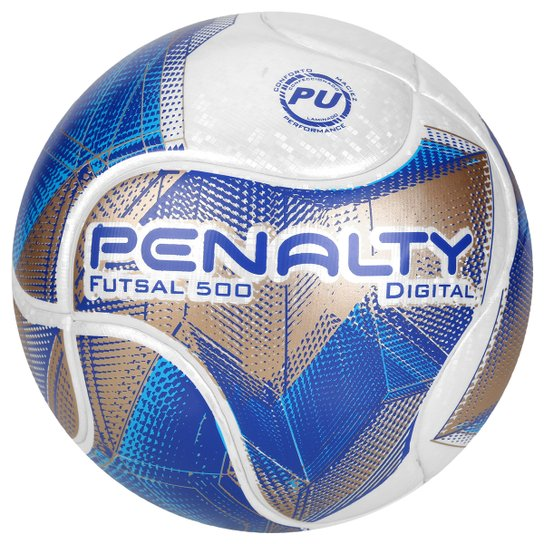 f77665c53c Bola Futsal Penalty Digital 500 Termotec 7 - Branco+Azul