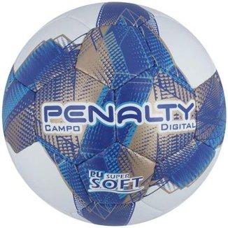 Bola Futebol Campo Penalty Digital 7 Com Costura à Mão 376f8920aa2eb