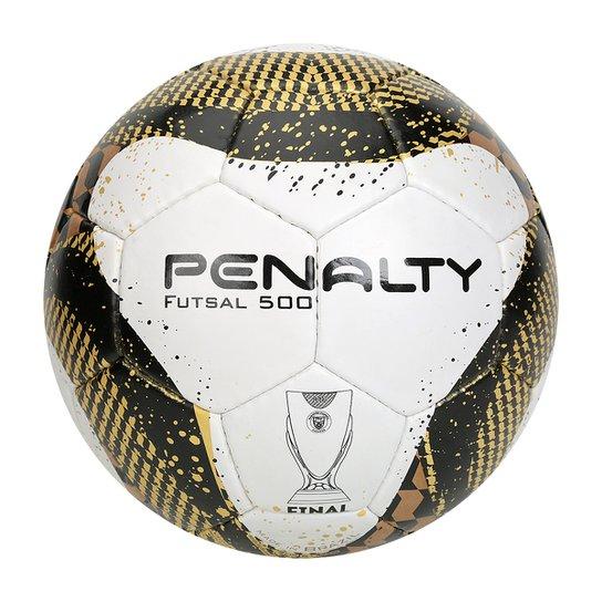 3e834dd128 Bola Futebol Penalty 7 Final FPF Com Costura Futsal - Branco+dourado