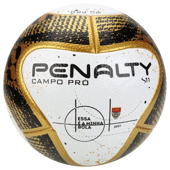 c73a77230ab32 Bola Futebol Campo Penalty S11 Pró 7 Final FPF Termotec - Branco+dourado