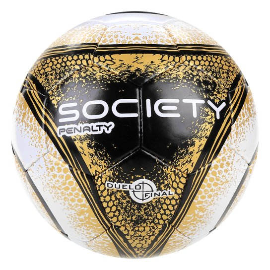 Bola Futebol Society Penalty Storm C C VIII - Branco e dourado ... f59cc7cb1d1f5