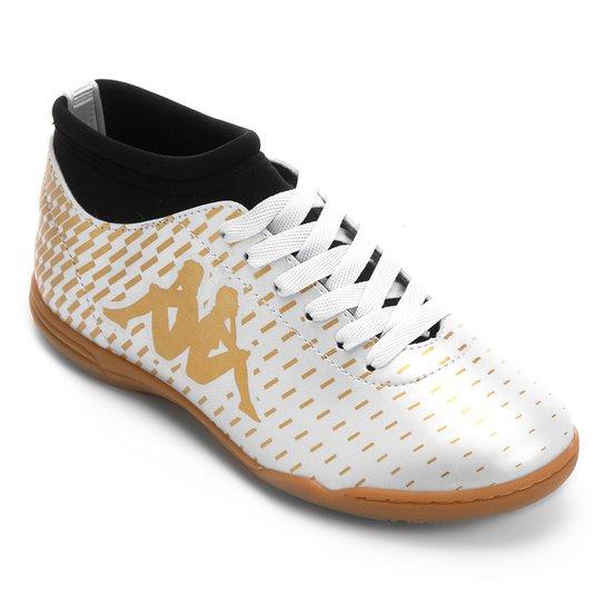 Loading zoom 794cfc25045261  Chuteira Futsal Infantil Kappa Matera -  Branco+dourado. Loading. 3f749aa44c6f83  Tênis Nike ... dd18a0b9d3f23