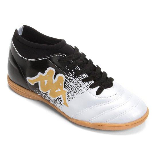 Chuteira Futsal Kappa Agility - Branco e dourado - Compre Agora ... fa7db5dbde014