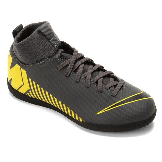 ffbe791ff Chuteira Futsal Infantil Nike Mercurial Superfly 6 Club IC - Cinza+Amarelo  ...