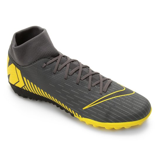 9395cd1db1f9f Chuteira Society Nike Mercurial Superfly 6 Academy TF - Cinza+Amarelo
