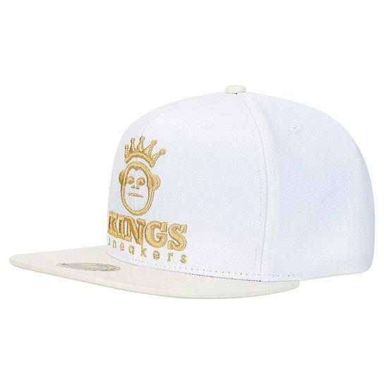08075ded33 Boné Kings Sneakers Prm Leather - Branco+dourado
