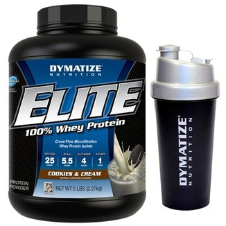 Elite Whey 5 Lbs + Coqueteleira - Dymatize Nutrition 7f55bc789b7db