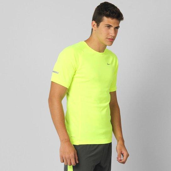 cc227ef5004949 Camiseta Nike Miler - Verde Limão