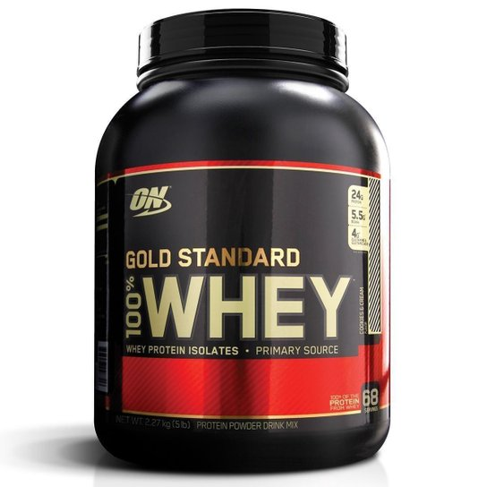 4612af76a 100% Whey Gold Standard 5 Lbs - Optimum Nutrition - Cookies e Cream ...