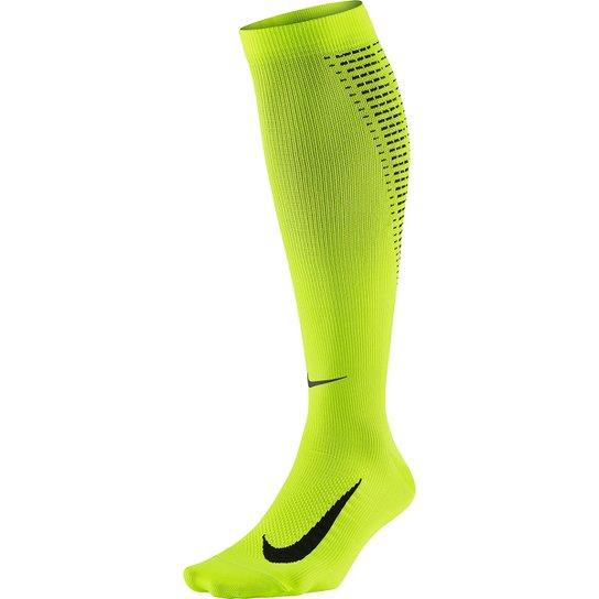 3bab8b7540 Meia De Compressão Nike Elite Running Lightweight 2.0 Dri-Fit - Verde Limão