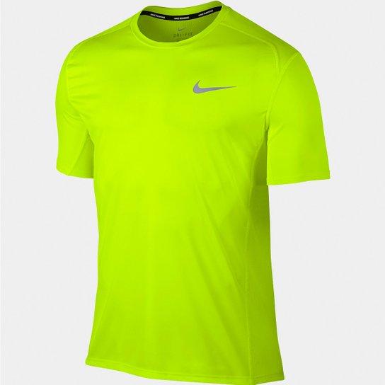Camiseta Nike Dri-Fit Miler SS Masculina - Verde Limão - Compre ... 9d6a85e68179e