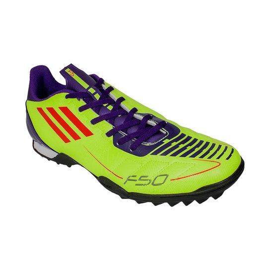 1016e0e6b3 Chuteira Society Adidas F5 Adizero Trx T - Verde Limão