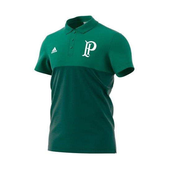 Camiseta Polo Adidas Palmeiras Especial - Azul Turquesa+Preto fa15bca28c1ff