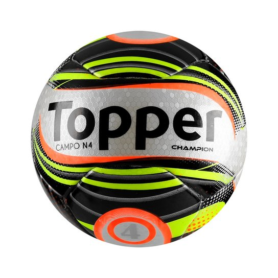 ccdcae939db34 Bola Futebol De Campo Topper Champion N°4 - Verde Limão