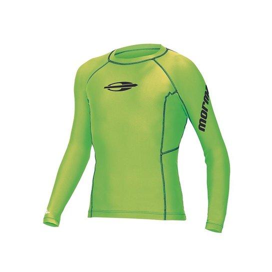 9ec033d4af Camiseta de Proteção Lycra Juvenil UV50 Longa Gromm Mormaii - Verde Limão